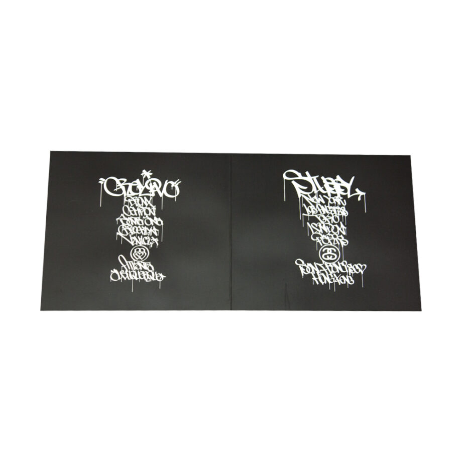 Stussy White Tee World Tour 2006 Grey Pvc S6SC1901232 Limited Edition