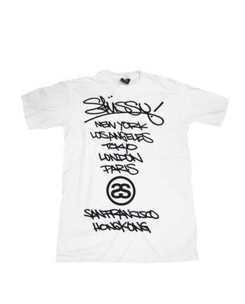 Stussy White Tee World Tour 2006 Marok Limited Edition
