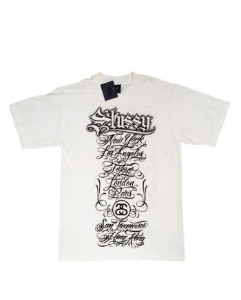 Stussy White Tee World Tour 2006 Mister Cartoon Limited Edition