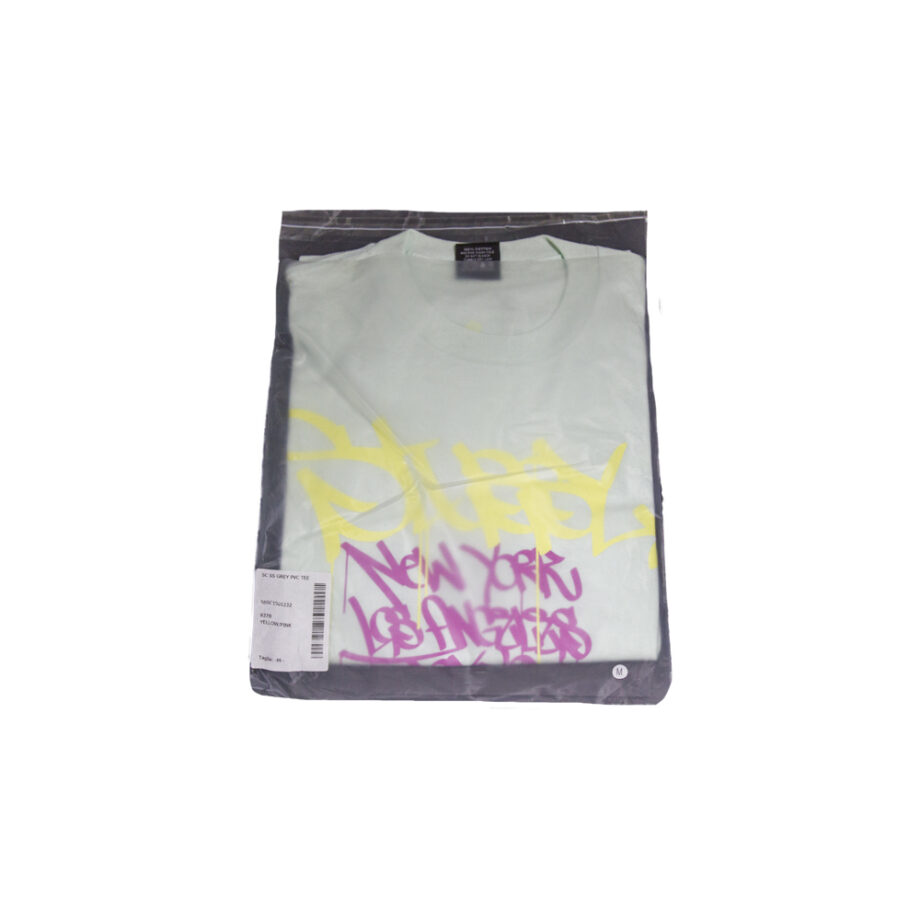 Stussy Yellow / Pink Tee World Tour 2006 Grey Pvc S6SC1901232 Limited Edition