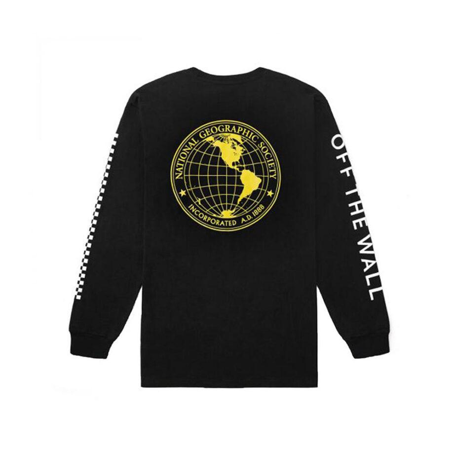 Vans x National Geographic Gobe T-Shirt A Maniche Lunghe Black VN0A4MSGBLK
