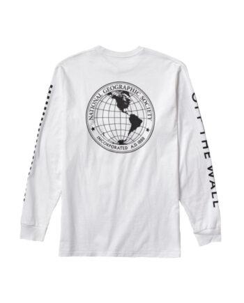 Vans x National Geographic Gobe T-Shirt A Maniche Lunghe White VN0A4MSGWHT