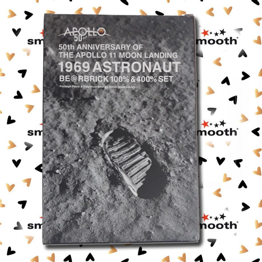 Medicom Toy 1969 Nasa Apollo 11 Astronaut Bearbrick Set 100% 400% Limited Edition