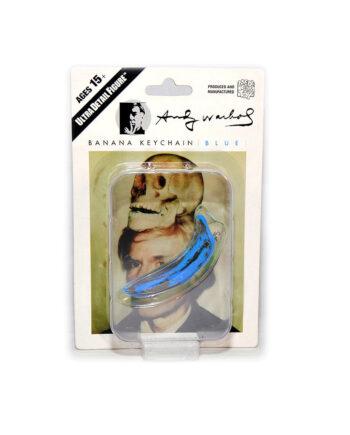 Medicom Toy Andy Warhol Banana KeyChain Blue