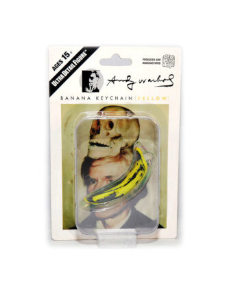 Medicom Toy Andy Warhol Banana KeyChain Yellow