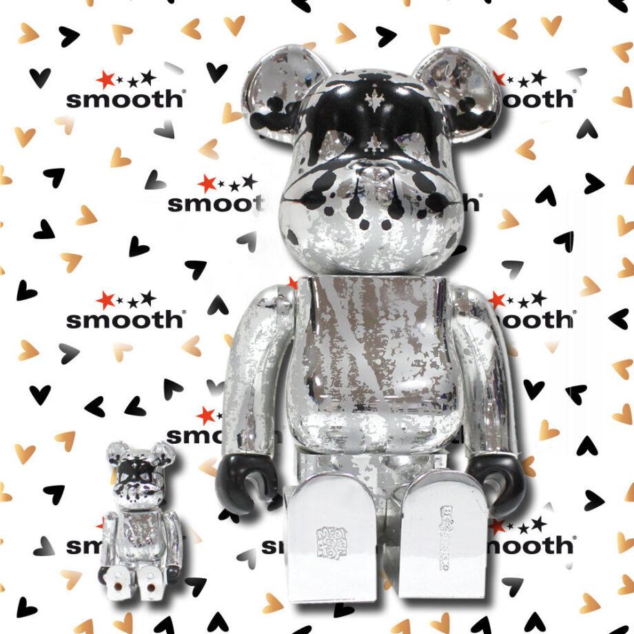 Medicom Toy Pushead Silver Anniversary WCC 21 100% 400% Bearbrick Set 2005 Limited Edition