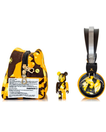 Medicom Toy Wesc Bearbrick Set Bongo Giallo - Yellow Headphones