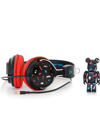 Medicom Toy Wesc Bearbrick Set Bongo Nero - Black Headphones