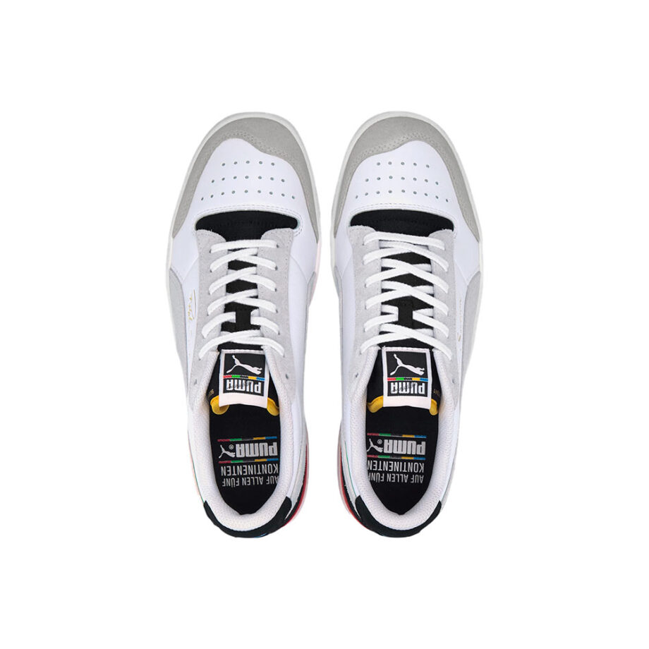 Puma The Unity Collection Ralph Sampson Signature Trainers P Wht-P Blk-High Risk Red 374749 01