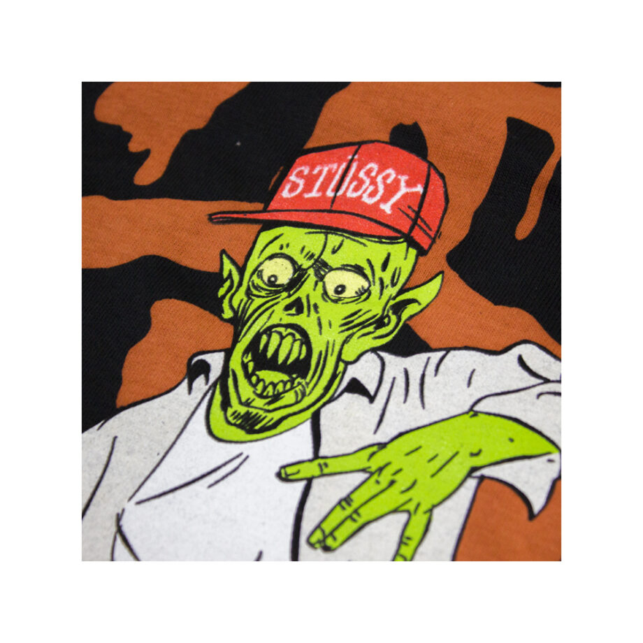 Stussy Customade Black SC Zombie Tee Limited Edition FCSC1901915
