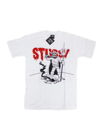 Stussy Customade Lizard Man White Tee Limited Edition FCSC1901913