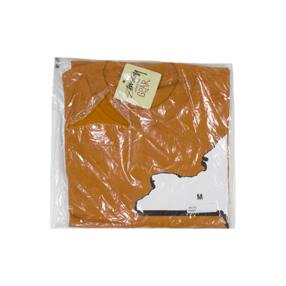Stussy Mappin' Orange Tee Limited Edition 1901153