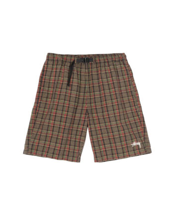 Stussy Plaid Mountain Short Black 112252