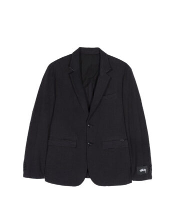 Stussy Seersucker Sport Coat Black 115513