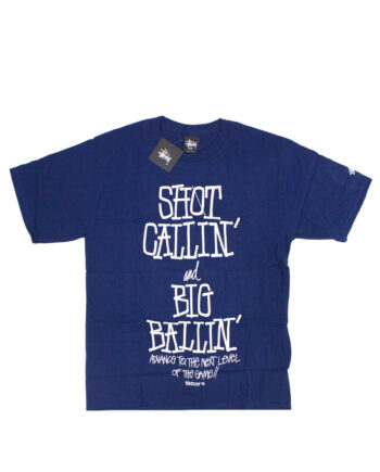 Stussy x Delicious Vinyl Shot Callin' Big Ballin' Blue Tee Limited Edition 3902370