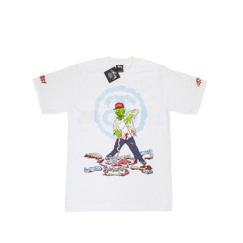 Stussy Customade White SC Zombie Tee Limited Edition FCSC1901915