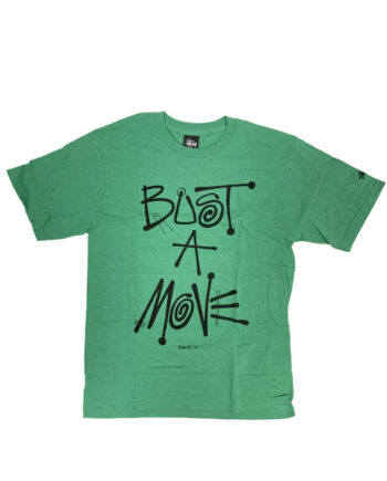 Stussy x Delicious Vinyl Bust A Move Teal Tee Limited Edition 3902374