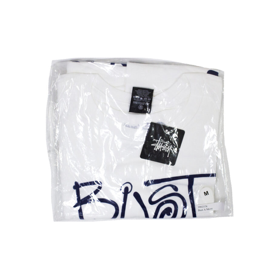 Stussy x Delicious Vinyl Bust A Move White Tee Limited Edition 3902374