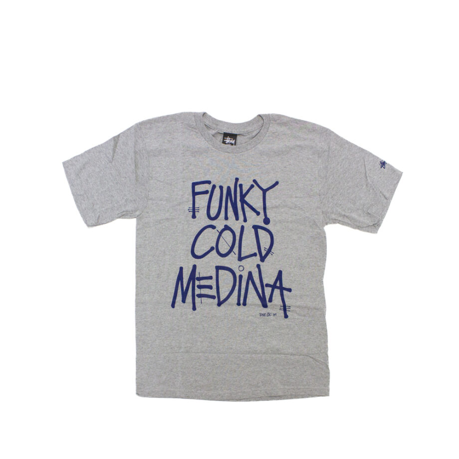 Stussy x Delicious Vinyl Funky Cold Medina Grey Tee Limited Edition 3902369