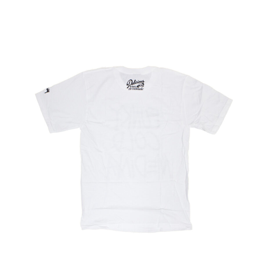 Stussy x Delicious Vinyl Funky Cold Medina White Tee Limited Edition