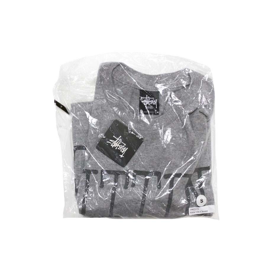 Stussy x Delicious Vinyl Sittin' On Chrome Coal Tee Limited Edition