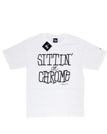 Stussy x Delicious Vinyl Sittin' On Chrome White Tee Limited Edition 3902373