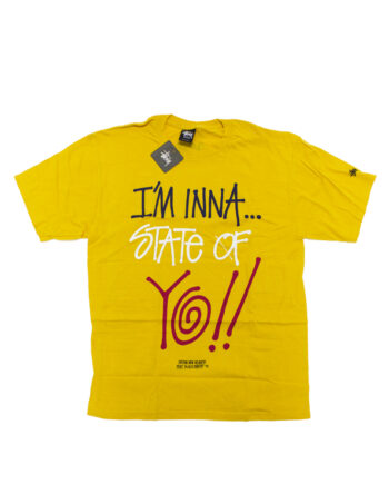 Stussy x Delicious Vinyl State Of Yo!! Yellow Tee Limited Edition 3902371