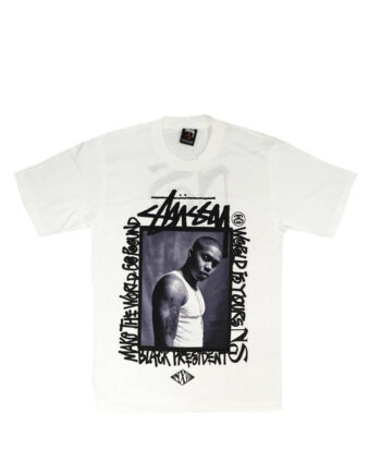 Stussy x Nas White Face Tee Limited Edition SDSC1902155