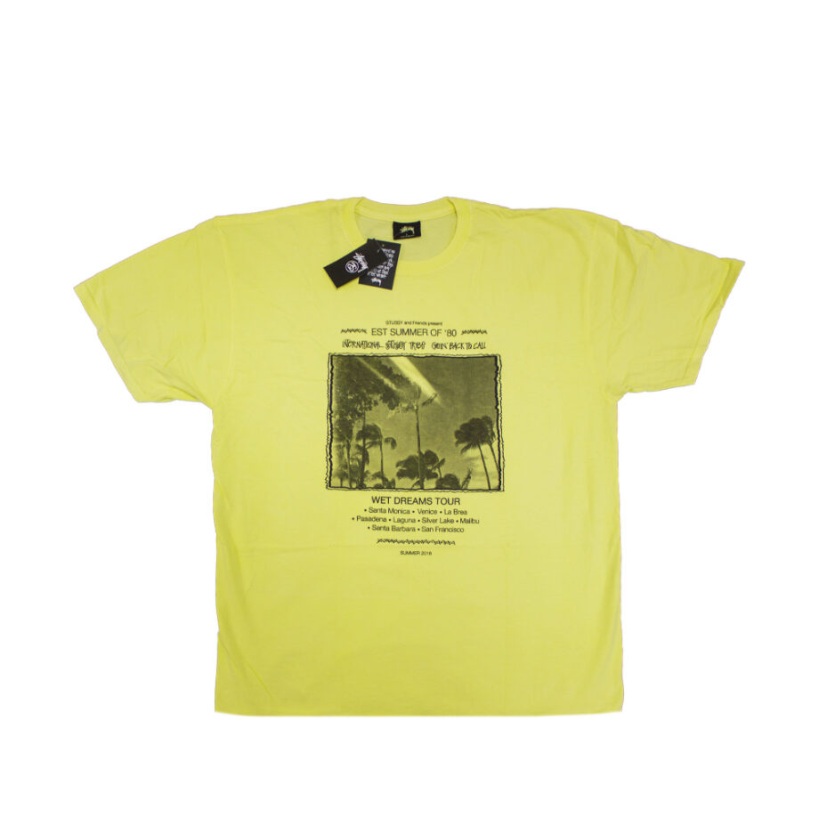 Stussy Yellow SC Event Tour Tee Limited Edition SMSC3903036