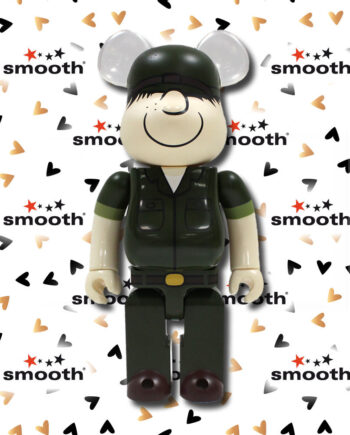 Medicom Toy DrX Army Beetle Bailey Romanelli Bearbrick 400% 2011 Limited Edition