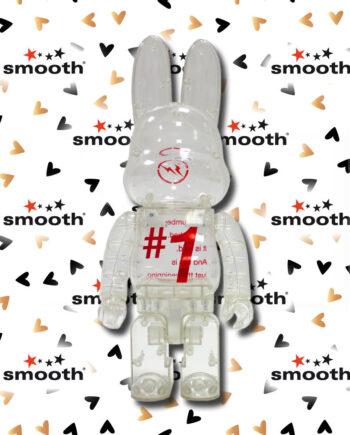 Medicom Toy Plus Fragment Design Rabbrick 400% Clear Hiroshi Fujiwara