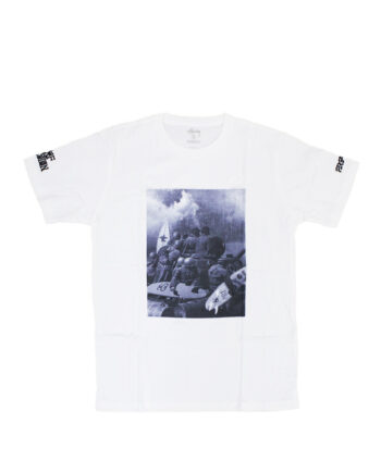 Stussy Customade x Fergadelic Authentic Surf Invasion White Tee Limited Edition SFSC0900084