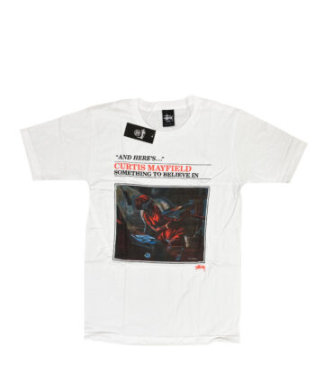 Stussy x Curtis Mayfield Believe In White Tee 1903457