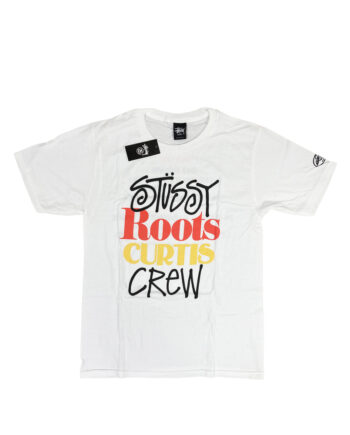 Stussy x Curtis Mayfield Roots Curtis Crew White Tee Limited Edition
