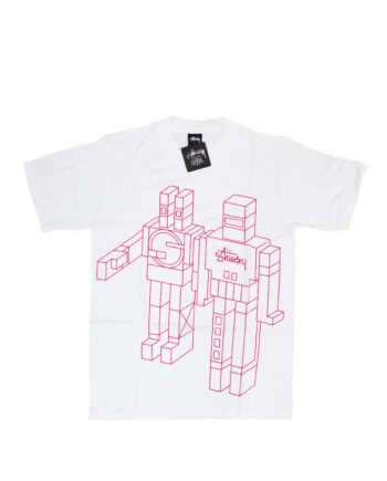 Stussy x Delta Giant Robot White Tee Limited Edition 1901805