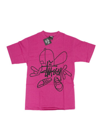 Stussy x Reas Hard Man Magenta Tee Limited Edition 1902087