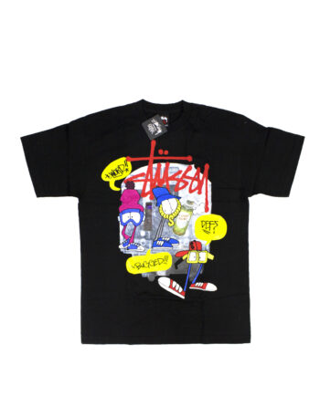 Stussy x Reas Paint Crew Black Tee Limited Edition 1902091