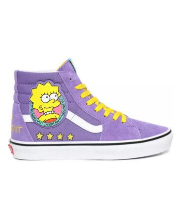 Vans x The Simpsons Sk8 HI (The Simpsons) Lisa 4 Prez VN0A4BV617G1