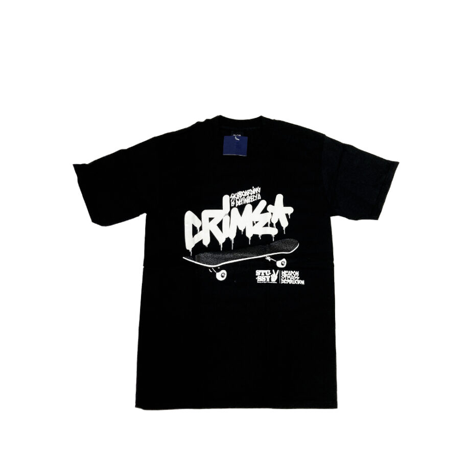 Stussy Crime Black Tee Limited Edition