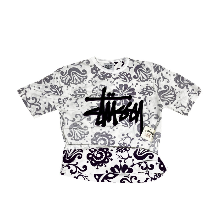 Stussy Flowers All Over Print White / Violet Tee Limited Edition