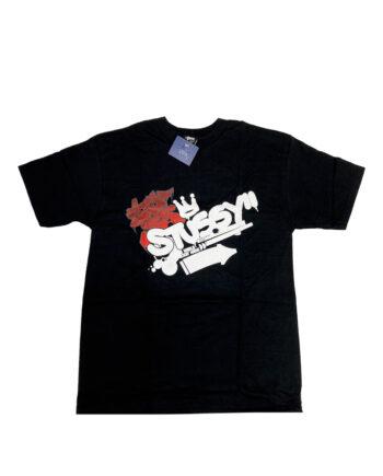 Stussy Graffiti Black Tee Limited Edition