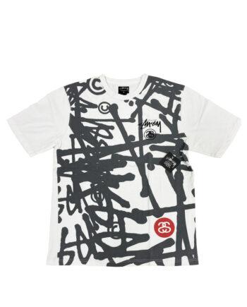 Stussy Logo Print White / Black Limited Edition