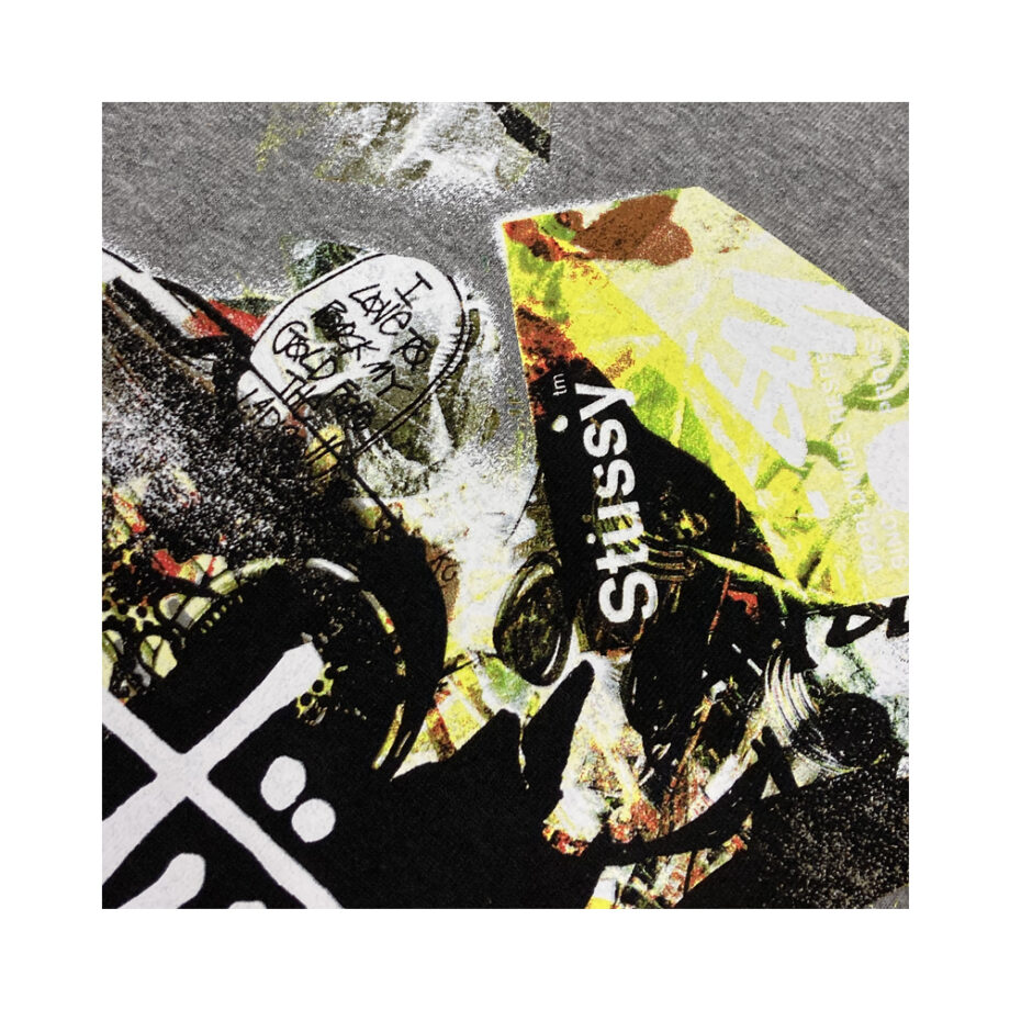 Stussy Tribe Collage Grey Tee Limited Edition