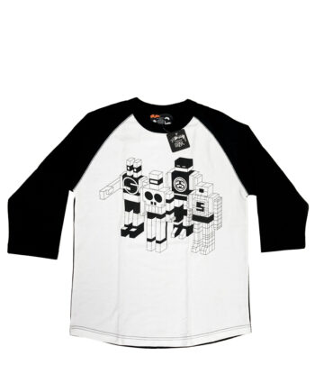 Stussy x Delta Long Sleeved Tee White / Black Limited Edition