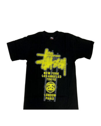 Stussy Customade Neon Black Tee Limited Edition SDSC3901999