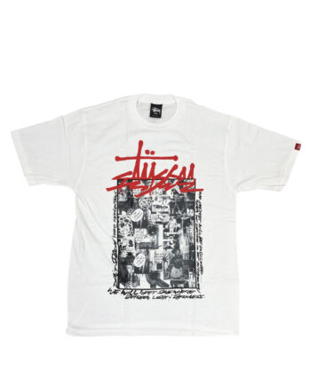 Stussy Customade x Futura Collage White Tee Limited Edition SFSC3902181