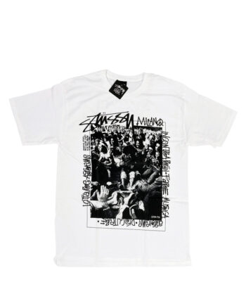 Stussy Milano 5th Anniversary White Tee Limited Edition