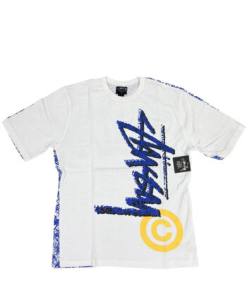 Stussy White / Cyan Tee All Over Print Limited Edition 014999