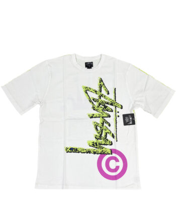 Stussy White / Green Tee All Over Print Limited Edition 014999