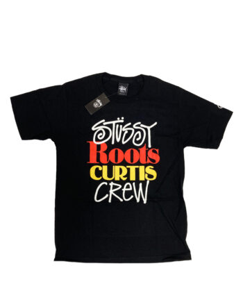 Stussy x Curtis Mayfield Roots Curtis Crew Black Tee Limited Edition 1903458
